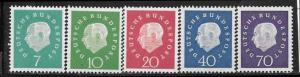 Germany 793 - 97 mh 2013 SCV $16.50  - 3924