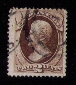 US Sc 157 Used DARKER BROWN F-VF
