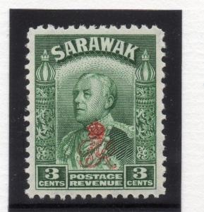 Sarawak 1947 Early Issue Fine Mint MNH 3c. Optd  029760