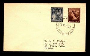 Western Samoa 1953 QEII Series On Cover / FDC? - N156