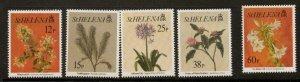 ST.HELENA SG676/80 1994 FLOWERS MNH