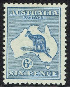 AUSTRALIA 1913 KANGAROO 6D 1ST WMK