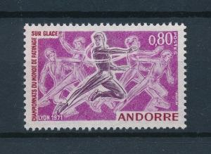 [75219] French Andorra 1971 Wintersport Figure Skating  MNH
