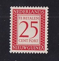Netherlands New Guinea   #J4   MNH   1957  Postage due   25 c