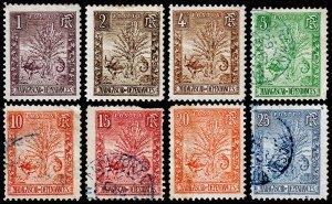 Madagascar - Malagasy Republic Scott 63-70 (1903) Mint/Used H G-F, CV $17.65 C