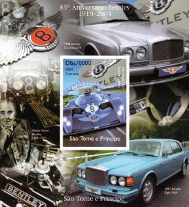 Sao Tome and Principe 2004  Bentley 85th.Anniv.Continental R/Eight S/S Imperf