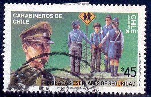 School Crossing Guards, Chile stamp SC#804 used