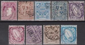 Ireland #67, 69-76 F-VF Used CV $118.50 (A10889)