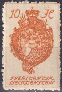 Liechtenstein  #33  F-VF Unused (SU7487)