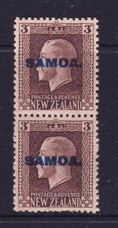 Samoa a 3d KGV joined perf pair MNH