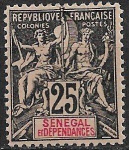 1892 Senegal 45 Navigation & Commerce 25c MH