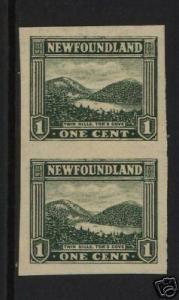 Newfoundland #131b VF/NH Imperforate Pair