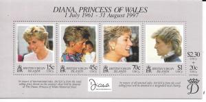 British Virgin Islands #878  Princess Diana Memorial Fund (MNH) CV.$5.50