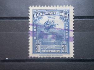VENEZUELA, 1943, used 30c, Statue Scott C149