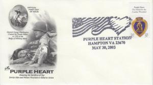 2003 Purple Heart UO Hampton VA Artcraft FDOI Pictorial