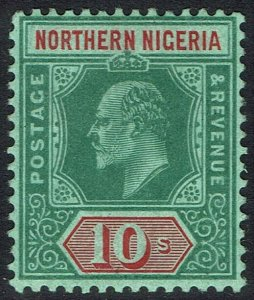 NORTHERN NIGERIA 1907 KEVII 10/-