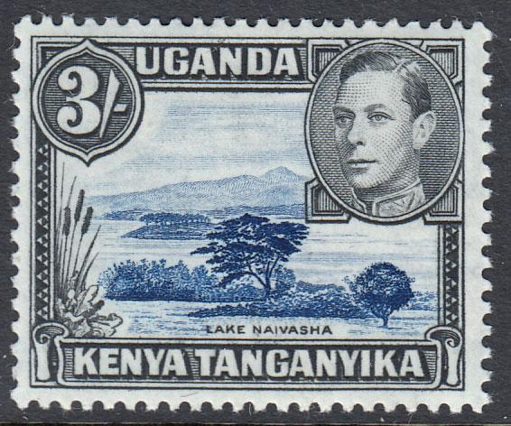 Kenya Uganda Tanganyika KGVI 3s Dull Ultramarine Black SG147ac Mint