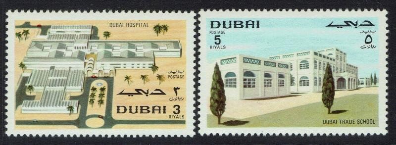 Dubai SC# 141 and 142, Mint Never Hinged - Lot 110616