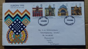 Great Britain 1990 EUROPA Stamps - Post Offices FDC