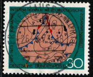 GERMANY 1973 CENT. of  WORLD METEOROLOGICAL ORG USED (VFU) P.14 SG1654 SUPERB