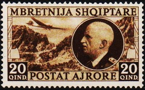 Albania. 1939 20q S.G.365 Mounted Mint
