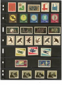 GERMANY DDR COLLECTION ON STOCK SHEET, ALL MINT, MOSTLY MNH