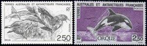 Scott #186-7 Whale & Bird MNH