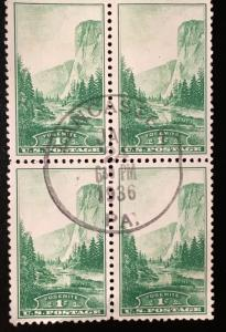 747 Zion, Circulated Block, Vic's Stamp Stash
