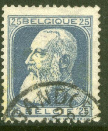 Belgium 87, 25c King Leopold, Used. (61)