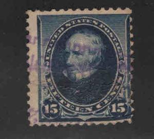 USA Scott 227 Used 1890 wrinkels see back scan