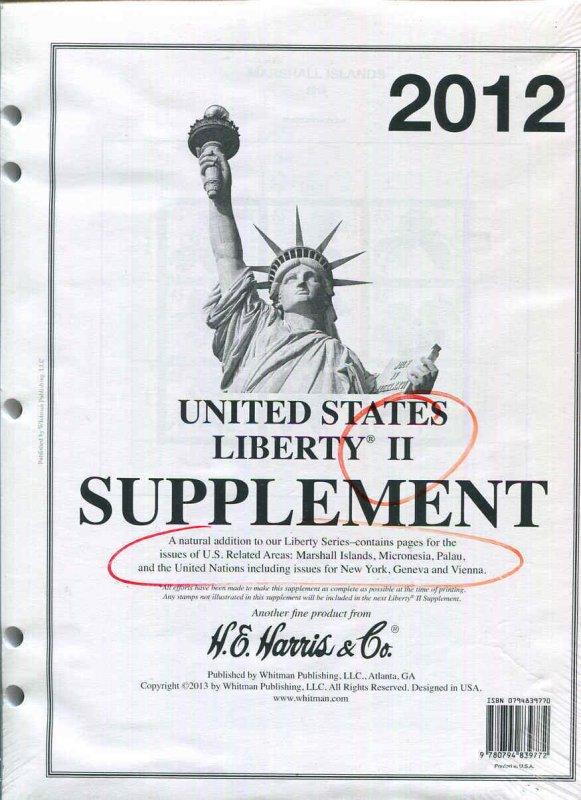 HE Harris Supplement Liberty II 2012 US Related Areas + U.N. New Sealed