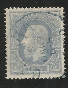 BELGIAN CONGO 3, USED STAMP, KING LEOPOLD II
