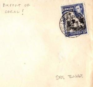 MS4117 1943 BERMUDA WW2 Hamilton CENSOR Cover + Contents Re *EXPORT OF CORAL* !!