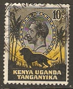 Kenya Uganda Tanganyika 1935 Scott 48 King George V used