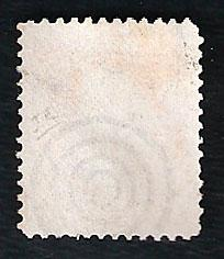 US Scott # 71 used orange 30 cent, no flaws and a blue bulls-eye cancel CV 135