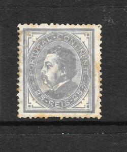 PORTUGAL 1880-82 25r  GREY  MH  P13 1/2 SG 188