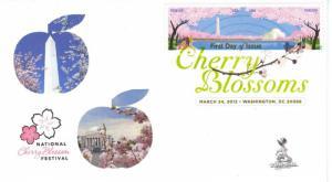 Cherry Blossoms Centennial FDC, w/DCP cancel,  #3 of 3