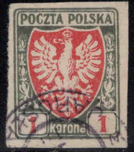 Poland Scott 71 Used imperforate stamp