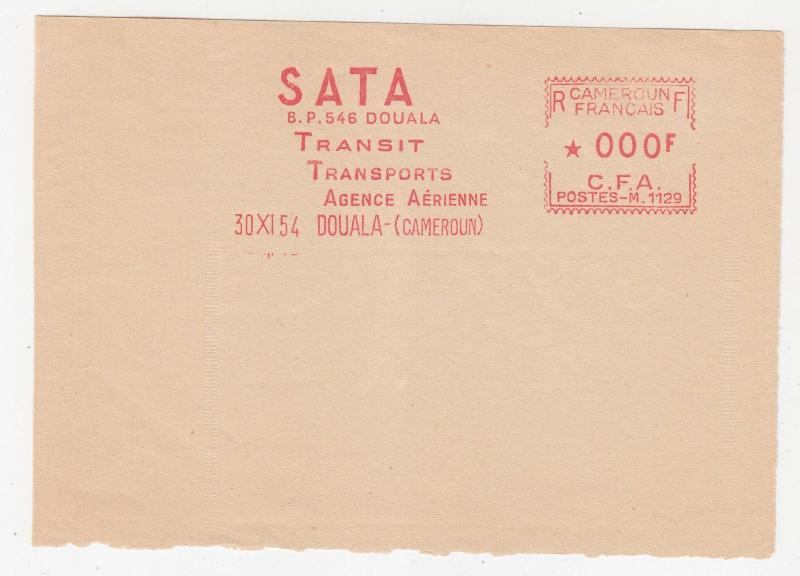 CAMEROON, FRENCH, Meter,1954, Havas M, Proof strike on piece, Doula, 0.00f.