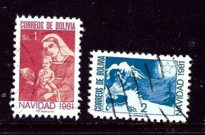 Bolivia 689-70 Used 1981 set    (ap4322)