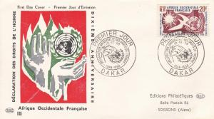 French West Africa # 85, Human Rights, First Day