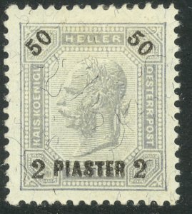 AUSTRIAN OFFICES IN TURKEY 1900 2pi on 50h Franz Joseph P.12 1/2 Sc 35 MH