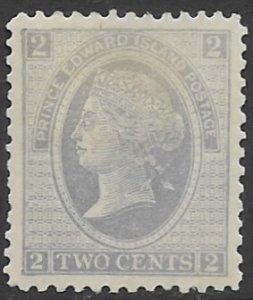 Prince Edward Island 12  1872   2 cents  fvf mint - hinged