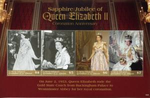Union Island Gren St Vincent Stamps 2019 MNH Queen Elizabeth II Coronation 4v MS