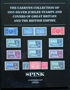 Auction Catalogue CAERYNN 1935 SILVER JUBILEE Stamps Covers VARIETIES GB Empire