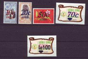 J24484 JLstamps 1971 sierra leone set  mnh #c132-6 ovpt,s