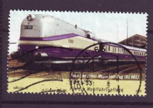 J13554 JLstamps 2006 germany used hv of set #b980 railroad train