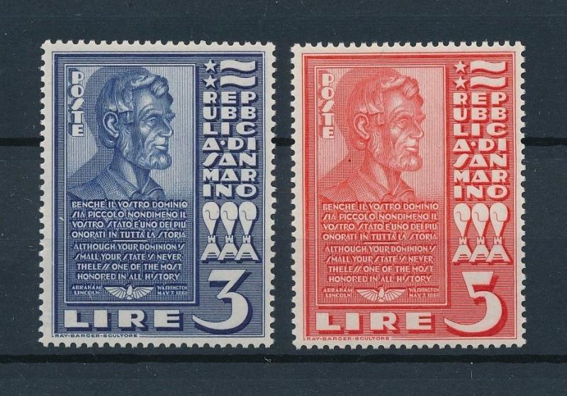 [73797] San Marino 1938 Abraham Lincoln Set from M/S MNH