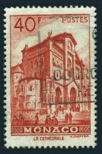Monaco 231,used.Michel 392. Scenic 1949:Cathedral of Monaco.