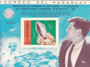 Paraguay # 1050, John F. Kennedy, Apollo Lift Oftt, NO Gum, 10%